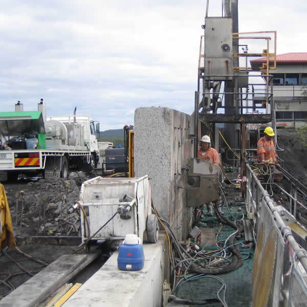 Wall sawing and core drilling for highway upgrade