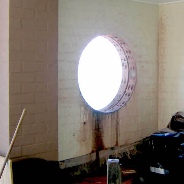 Hole cored for new window